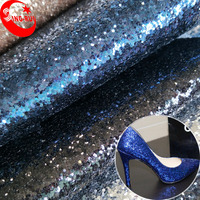 Christmas Occasion and Other Holiday Supplies Type Wholesale Glitter Leather Fabric For Shoes