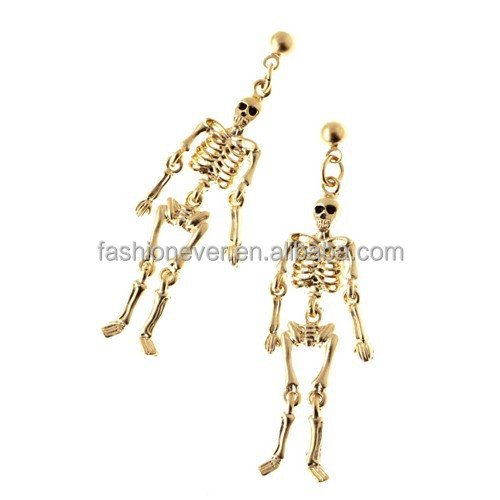 Halloween Costume Jewelry Pumpkin Ghost Dangle Charm Earrings