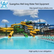 Most popular top fiberglass used competitive price largest indoor water park equipment Combination Slide for sale