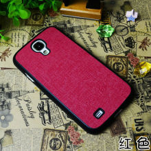 Hot Selling Factory Cheap Price New Leather Sticker Lagging Phone Case for Samsung Galaxy S4