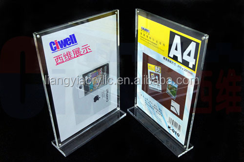 High-end acrylic magnetic a4 paper size frame exporter
