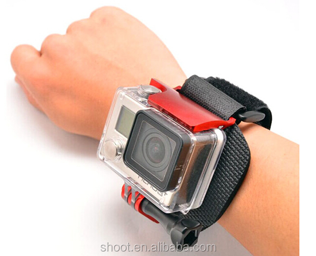 Go Pro Accessories Wrist Arm Belt Clip with Lock Camera Mount Strap for GoPro Hero 3+ 4