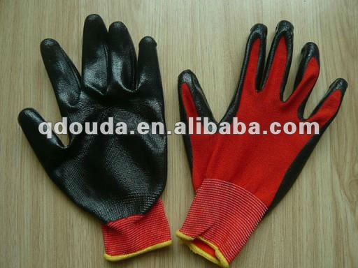 13guage nitrile coated working gloves
