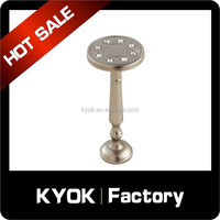 KYOK Delicate & Fashion metal crystal curtain hook, window curtain supports, cheap curtain rods factory in foshan