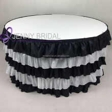 TC066H polyester taffeta fabric banquet steps in table skirting designs for wedding
