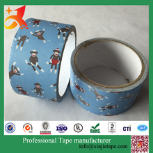 XJ-2015 custom printed duct tape premium grade cloth duct tape colourful duct tape