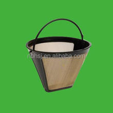 new design cone coffee filter stainless steel mesh
