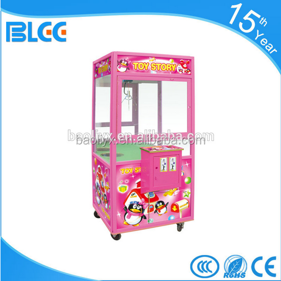 Happy entertainment Coin Operated arcade Claw Toy Crane Machine