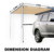 2.5Mx3M Waterproof Retractable 4X4 SUV Outdoor Side 4WD Awning For Cars