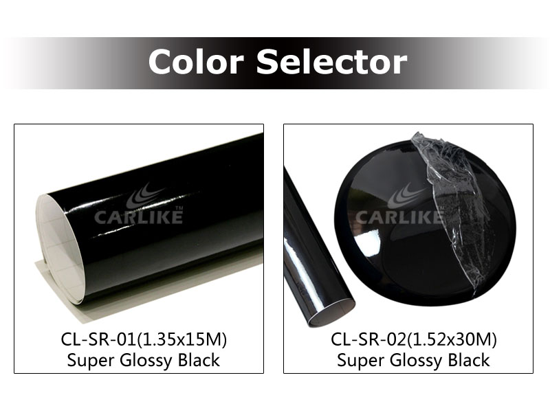 CARLIKR Glossy Black Sunroof Vinyl Sticker For Car Decoration