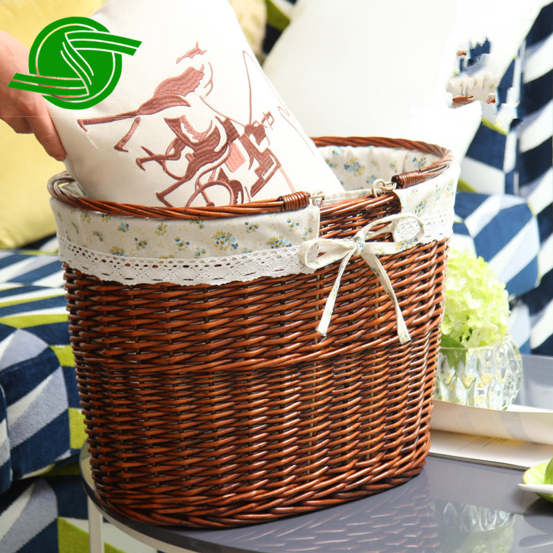 Wholesale beautiful 100% hand woven storage basket Laundry basket