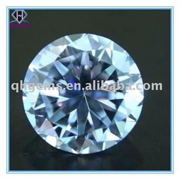 Round shaped white Cubic Zirconia Gemstone