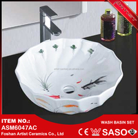 Most Selling Product In Alibaba Shell Shaped Bathroom Corner Sink