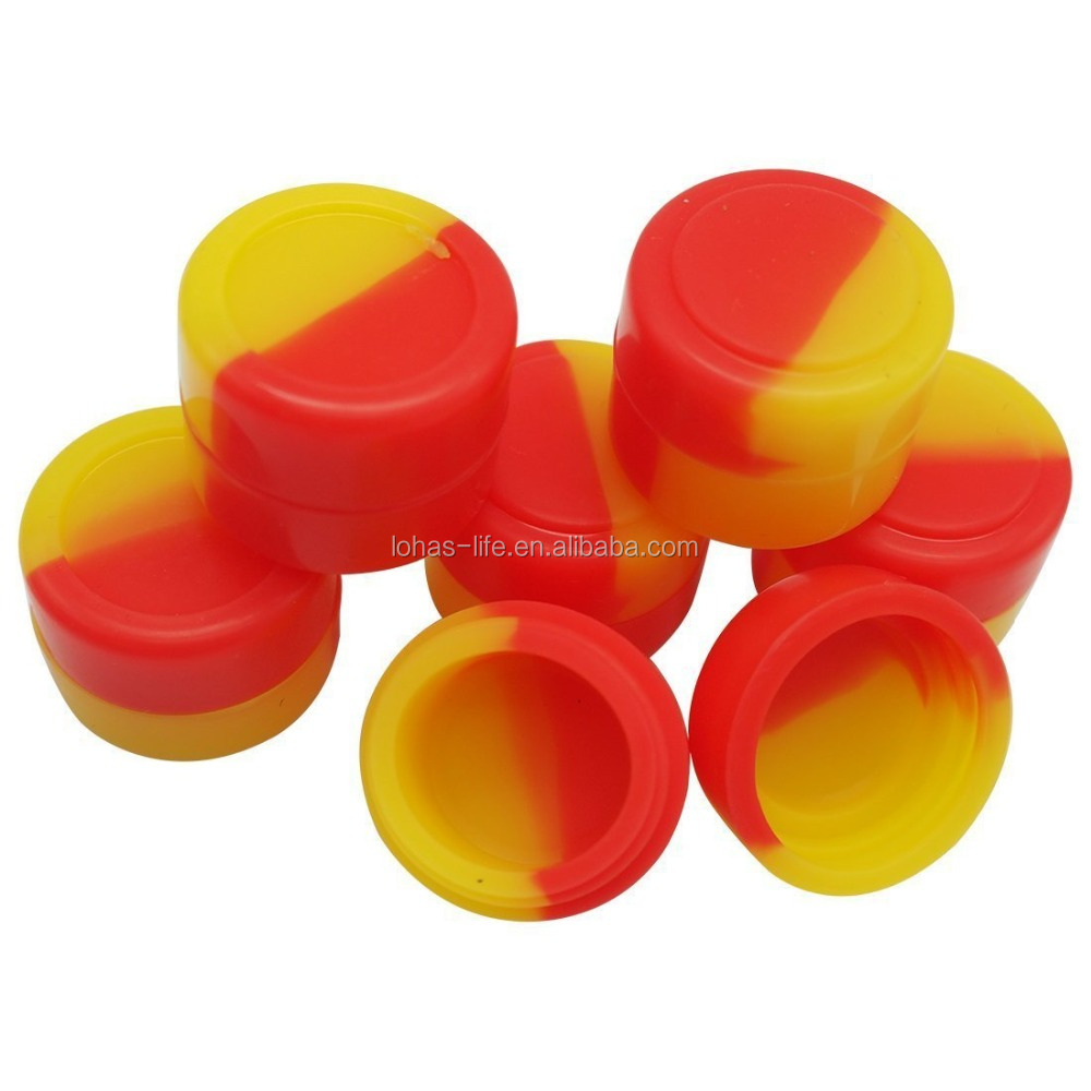 Round Wax Oil Extract Bho Non-stick Concentrate Silicone Container