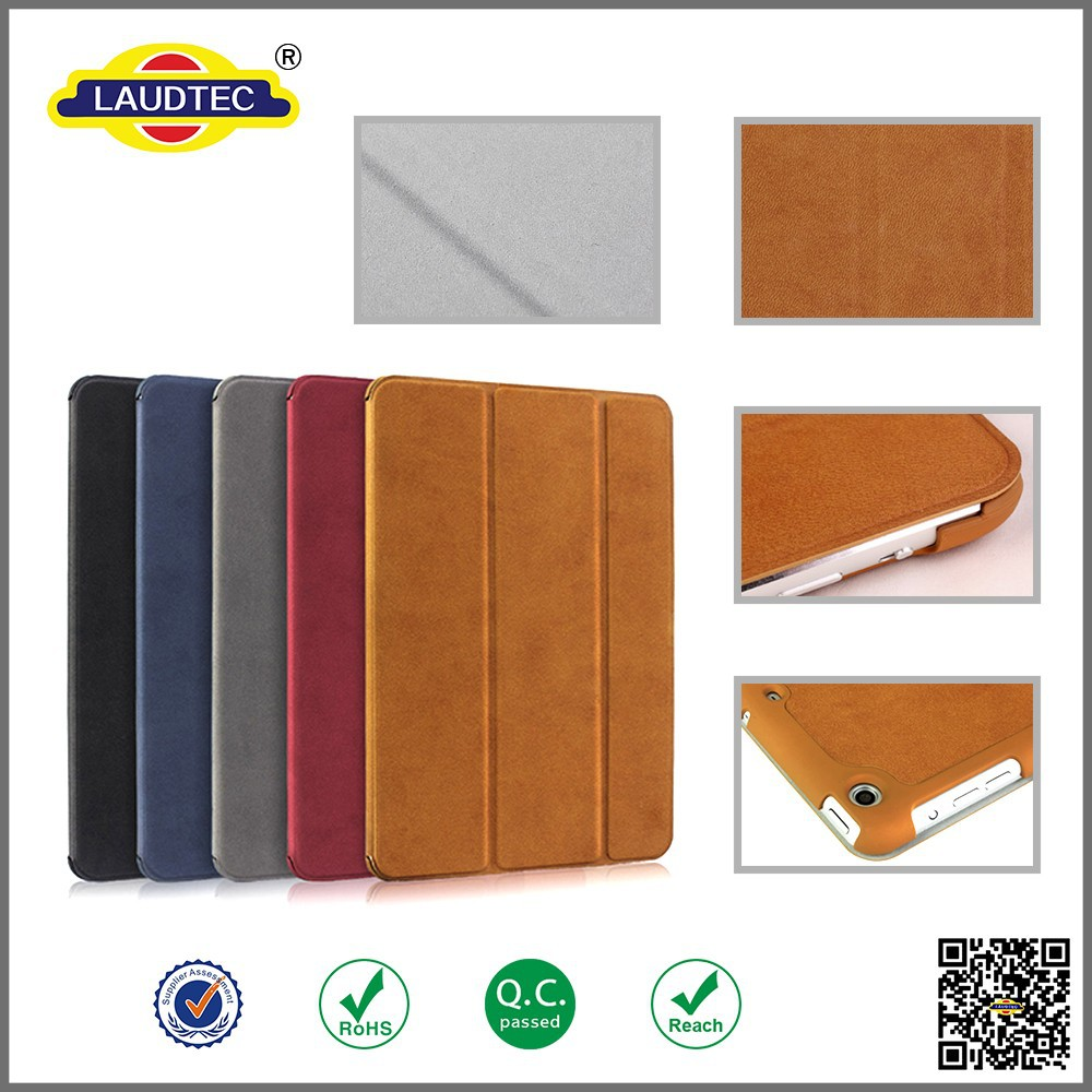 Leather Stylish Book Folding Stand Flip Case for iPad mini