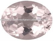 Soft Pink Morganite Oval Cut Gemstone