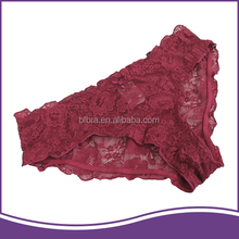 New arrived rose red color breathable stylish women panty for lady