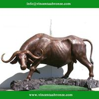 Craft abstract bull outdoor sculpture