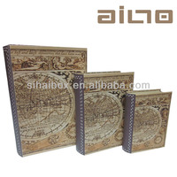 2014 map book shape fancy decorative paper gift box