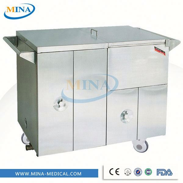 MINA-FC001 Mobile Food Warmer Cabinet/food warmer cart/food warmer trolley