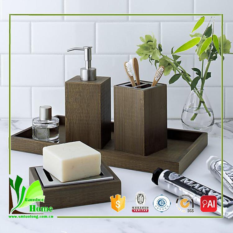 guten preis hotel bambus bad zubeh r set anlagen des. Black Bedroom Furniture Sets. Home Design Ideas