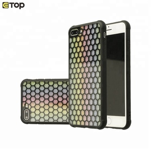 Super Bee Hollow Honeycomb Shiny Design Mobile Phone Case,Tpu Pc Mobile Phone Back Cover For 6 7 8 9 X Plus Case