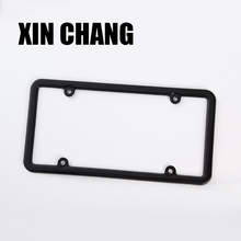 Adjustable car look number plate black stainless steel license plate frame