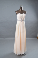 YL0205 YOLANDA Real Photos Elegant Adult Peach Bridesmaid Dress Long
