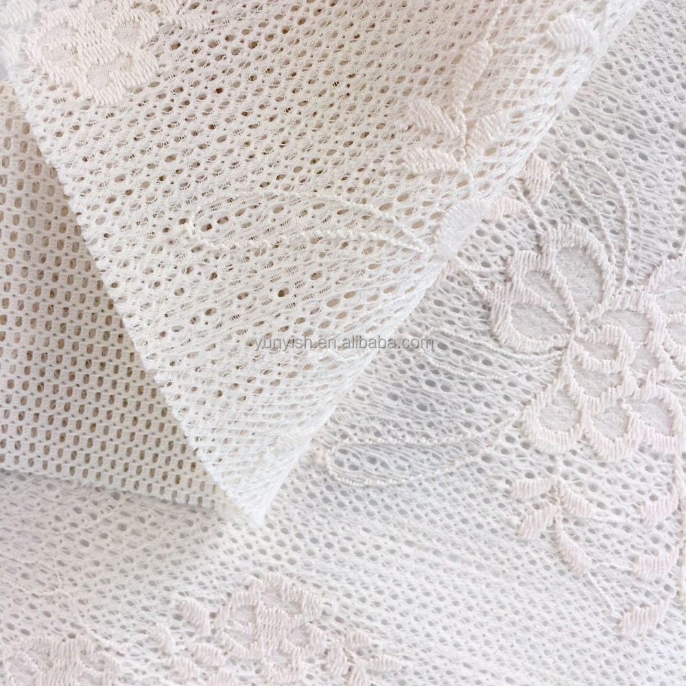 100% nylon embroidery lace fabric TY-10663