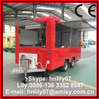 (Skype: hnlily07) Export to Kenya Big Trailer for Ice Cream / Juice Selling Kisok Trailer