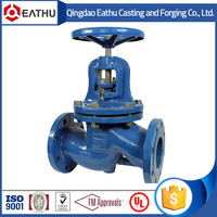 Cast iron water globe valve