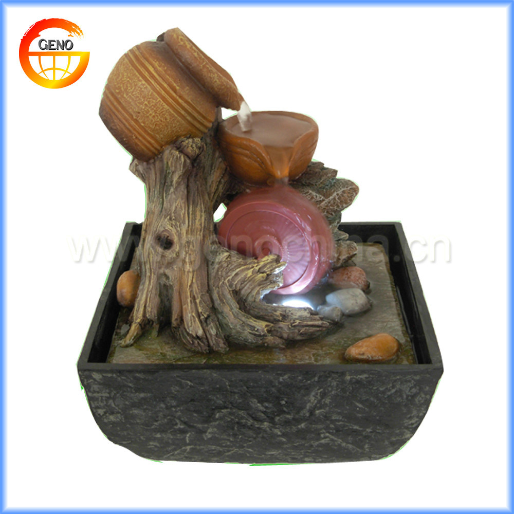 tabletop garden fountain home decor indoor water flowing outdoor