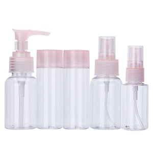 OEM cosmetic plastic bottle clear empty travel kit bottle