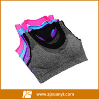 High quality woman yoga bra fake two pieces sport bra woman seamless yoga bra