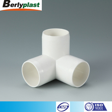 China new material white 4 inch PVC 3 way elbow pipe fittings