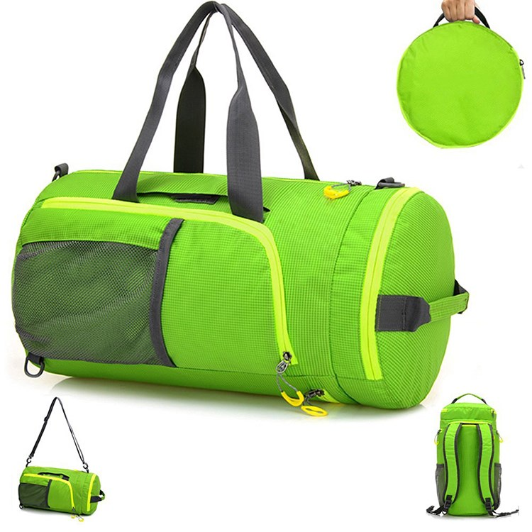 Multifunctional waterproof foldable travel duffel sports bag