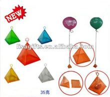 2012 hot selling pyramid shape gifts box shape 4 colors avialble foil balloon weights