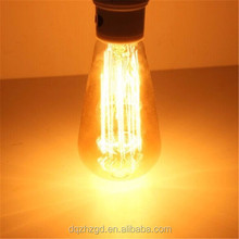 ST64 Lantern Shape E27 AC110V-240V Vintage Lighting Antique Tungsten Filament Light Bulbs Lamps for US EU (ZZ-ST64)LM