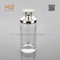 100ml customized logo design glass perfume bottle with spray cap