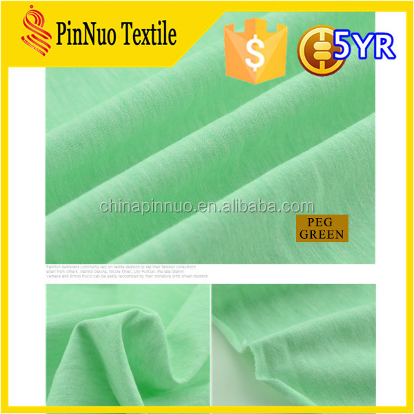2015 hot sale cheap tetron cotton fabric for t shirt and garment