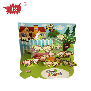 china manufacturer Music Greeting Cards with scenery pattern