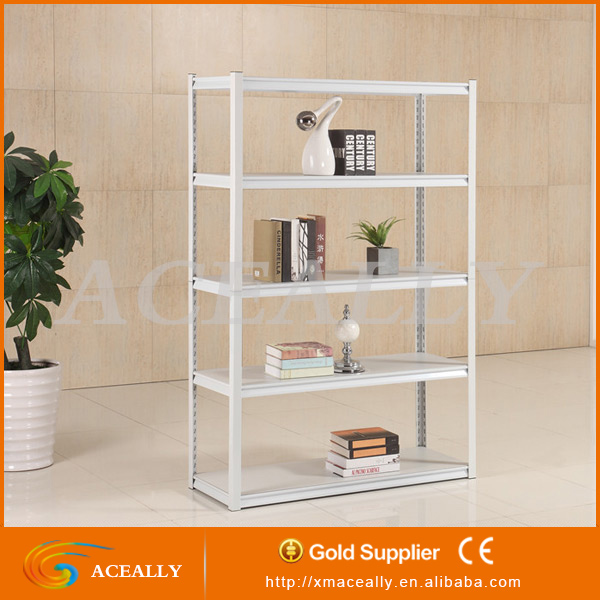 Aceally hot sell metal boltfree shelving rack,soltted angle retail display rack,boltless and nuts rack