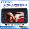 High quality 2 din HD touch screen car gps Multimedia system OEM for Alfa Romeo Spider car headunit