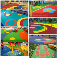 EPDM Rubber Outdoor playground for kindergarten and school -G-V-1030