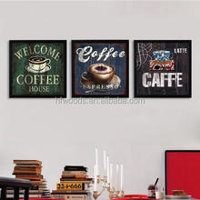 Western coffee cup style oil painting for restaurant canvas painting