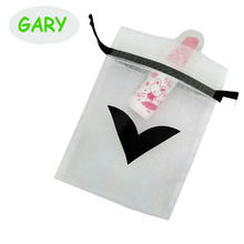 Company Logo White Jewelry Organza Bag 4x6""