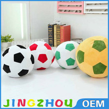 coloured cotton plush stuffed soccer rattle ball