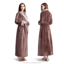 Luxury Thick Fur robe Sex Women bathrobe