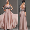 Summer new European style explosion models lace halter long dress