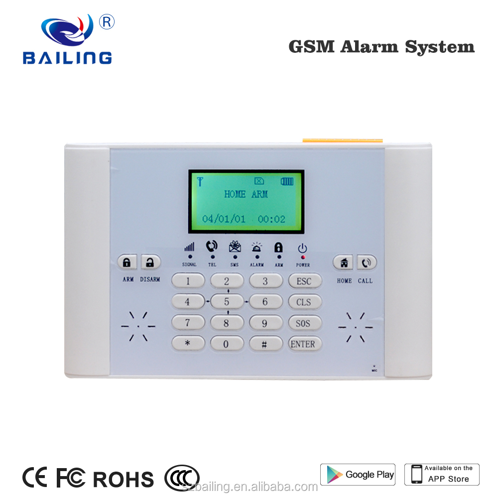 Support phone APP PC software centerHome security alarm system 6 wired 40 wireless GSM Alarm system smart home anes alarm system